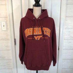 Virginia Tech Hokies Maroon Pullover Hoodie Size M